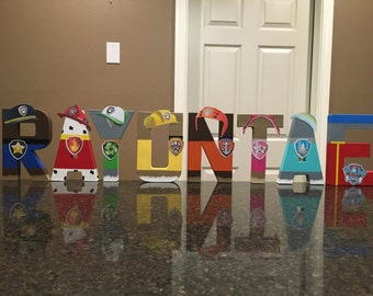 Paw Patrol Custom Name Letters - price is per letter
