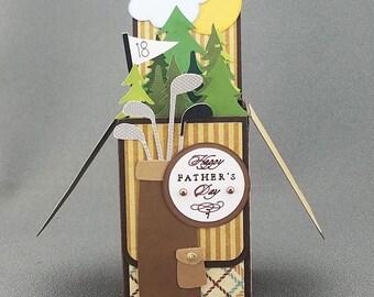 Handmade Golf Fathers Day box card