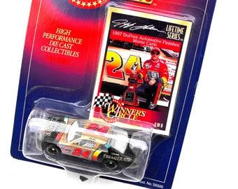 1997 Jeff Gordon Race Car Vintage Nascar Racing DuPont Automotive Monte Carlo Winner's Circle Collectible Hasbro Kenner Toy & Collector Card