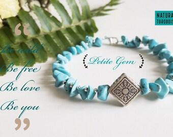 Boho style turquoise bracelet
