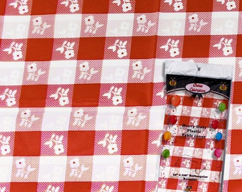 Red/white Gingham print tablecloth, picnic tablecloth, red gingham, red checker print