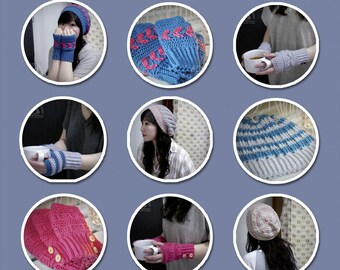Winter Hat and Gloves Pattern Sets - Singles