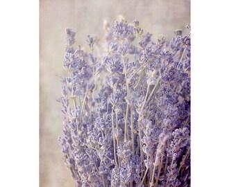 Lavender Flower Photography, Floral Art Print, Purple Wall Art, Romantic Country Chic Decor