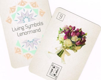 Mini Living Symbols Lenormand [Genderqueer and Nonbinary-Friendly Fortune Telling Deck]