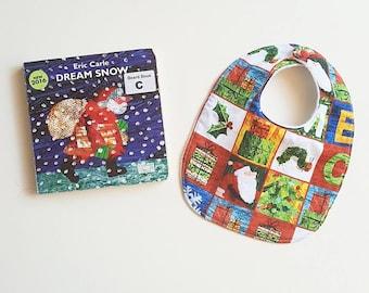Christmas Hungry Caterpillar literature inspired festive baby bib