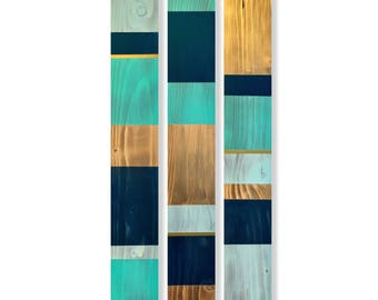 Navy Aqua and Gold Wood Wall Hanging Modern Rustic Navy Gold and Aqua Wood Wall Art Blue and Gold Wooden Wall Hanging Navy and Gold Decor  sc 1 st  Etsy : blue and gold wall art - www.pureclipart.com