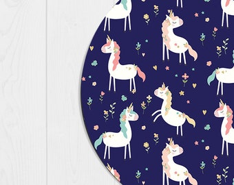 Mouse Pad Cute Unicorn Mousepad Funny Coworker Gift Office Supplies Office Decor Office Desk Accessories Cubicle Accessories Pink Mint Blue