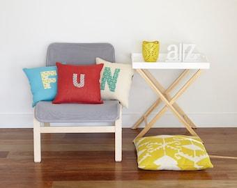 Cross stitch pattern FUN ALPHA-monogram,monogram pillow,letter pillow,embroidery pattern,cross stitch,needlepoint pillow,needlepoint,diy,fun