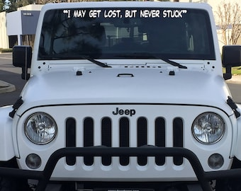 Look Pretty Play Dirty Windshield Decal // Jeep Decal