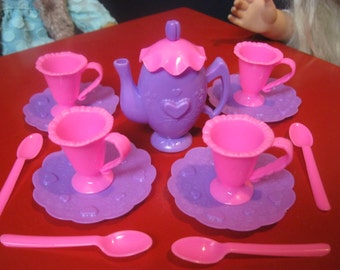 Tea Set for 18 inch doll like American Girl Doll, Mini Tea set - doll tea party * 18 inch doll accessories