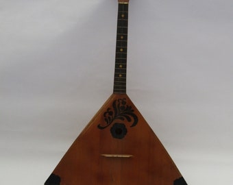 Antique Balalaika, Vintage musical instrument, Folk musical instrument - three strings balalaika - vintage Balalaika -  Balalaika instrument