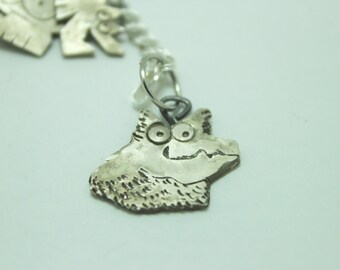 Custom Pet Memorial Charm: Your Pet in Sterling Silver