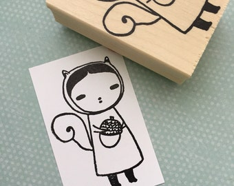 Squirrel Girl Rubber Stamp 6452
