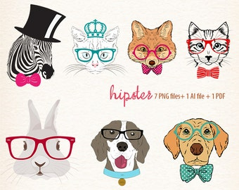 hipster animals, commercial use OK