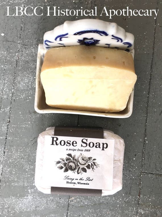 Victorian Makeup Guide & Beauty History 1869 Rose Soap- Historical Soap Victorian Rose Old Fashioned Recipe Victoriana Gifts Living History Essentials Best Soap LBCC Historical $13.00 AT vintagedancer.com