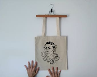 Tote Bag - Screenprint Over Cotton Canvas Tote Bag HP Lovecraft