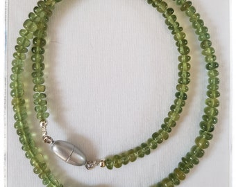 Green apatite with Pearl