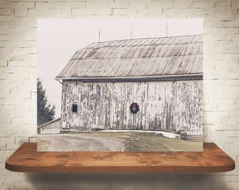 Christmas Barn Photograph - Fine Art Print - Farm Photography - Wall Art - Wall Decor -  Barn Pictures - Farmhouse Decor - Winter Scene