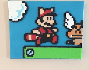 Mario bros 3 perler beads  mario perler 8x10