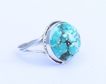 Natural Turquoise Ring, Silver Turquoise Ring, Turquoise Stone Ring, Turquoise Ring, Stacking Rings, US 3 4 5 6 7 8 9 10 11 12 13 14 15,  41