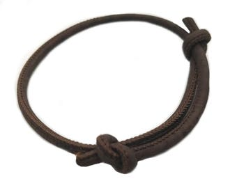 Vegan Chocolate Brown Portuguese Cork Adjustable Handmade Women's Bracelet Gift Ethical Jewellery