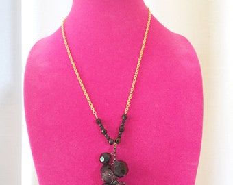 Black and Gold combination necklace
