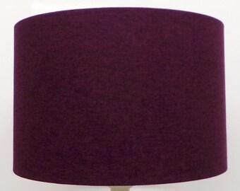 Shetland blush pink brushed linen style cylinder drum shetland damson purple brushed linen style cylinder drum lampshades pendant shade table mozeypictures Images