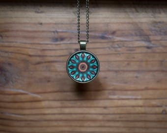 Mandala pendant and necklace
