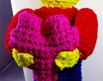 Valentine Lego Inspired Man Holding Block Heart