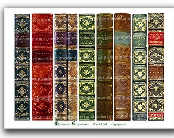 Bookmarks Antique Book Lover Library Paintings Printable Vintage Book  Marks Book Spine Digital Collage Sheet Instant Download 061