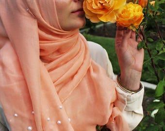 Soft Peach Lulu Pearl Hijab