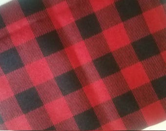 Red flannel book sleeve