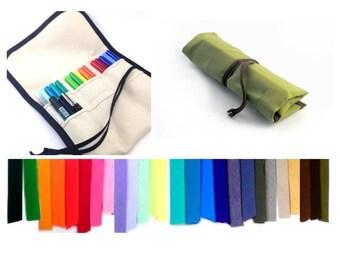 Choose Colors / M / TALL Brush Pen Roll / Buy it for Life | Paint Brush Roll | Tombow Case | Pen Roll | Pen Case | Journal Pen Holder