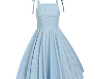 Dorothy Wizard of Oz Dress Summer Dress Blue Polka Dot Dress Kawaii Dress Pin Up Dress Sun Dress Retro Dress 50s Party Dress Plus Size Dress