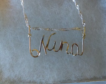 NINA  or ANY Wire Name in your choice of metals teen gift tween gift personalized gift unique gift wire name jewelry