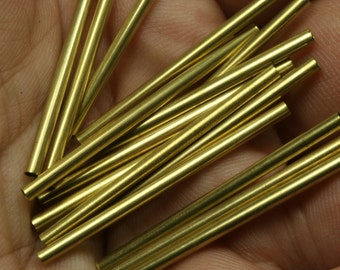 50 pcs raw brass tube 2x35mm industrial brass charms, pendant, findings spacer bead ttt02 1536