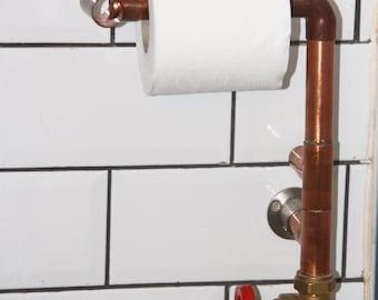 Copper pipe fun toilet roll holder