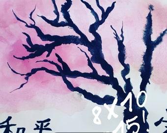 Cherry blossom tree 8X10
