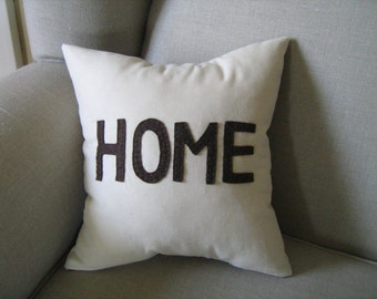 HOME Pillow in Brown