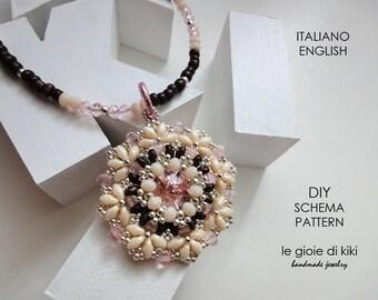 """DIY, schema pendente """"Bouquet"""""""
