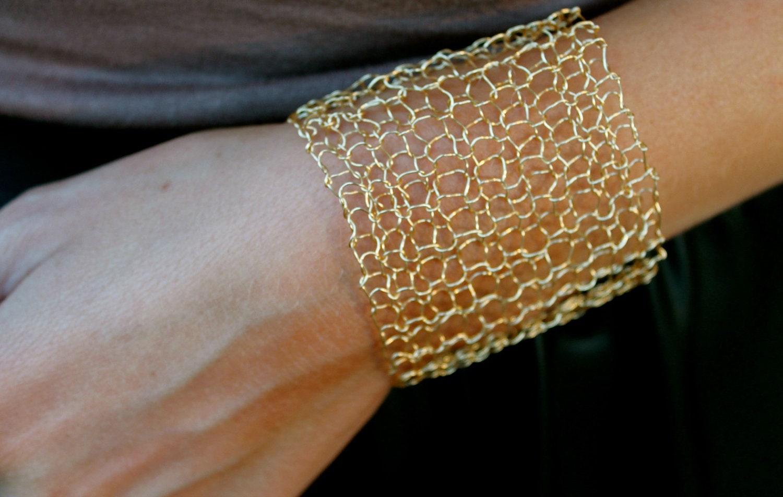 Gold Cuff Bracelet Arm Cuff Statement Bracelet Minimalist