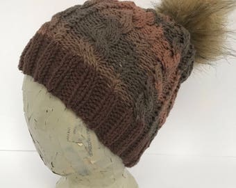 Bernadette's Cabled Knitted Hat