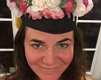 Flower Grad Cap Graduation Crown Grad Cap Flower Crown, Floral Grad Cap, Custom Grad Cap, Graduation Crown, Graduation Halo, Boho Grad