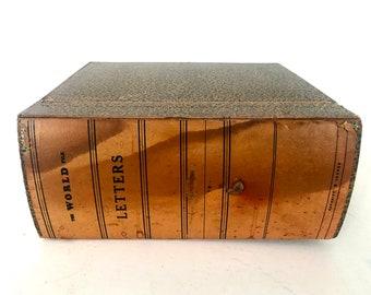 Vintage Index card holderRecipe File Box - Index Card Catalog - Vintage Recipe Box - Office Organization - Index Card Box File /