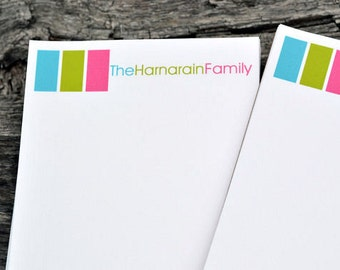 Personalized Family Notepads / Personalized Note Pads / Family Note Pads / Personalized Notebook / et of 2 Colorful Design