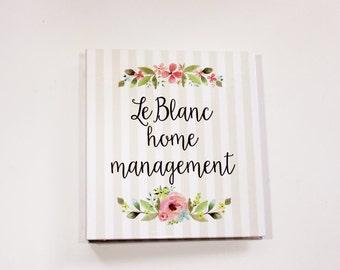 home management binder - personalized planner binder for home organization