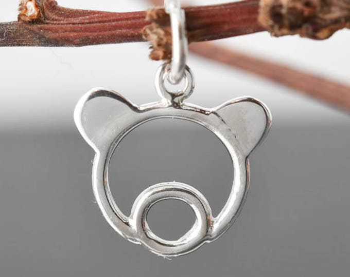 Teddy Bear Necklace, Teddy Bear Pendant, 925 Sterling Silver Pendant, Kids jewelry, Bridesmaid gift, Bridesmaid jewelry