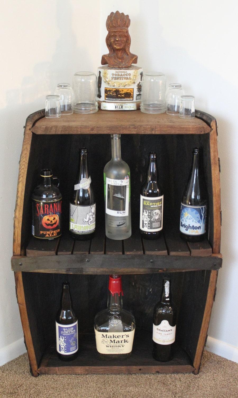 Whiskey Barrel Storage Shelf & Whiskey Barrel Bar Option.