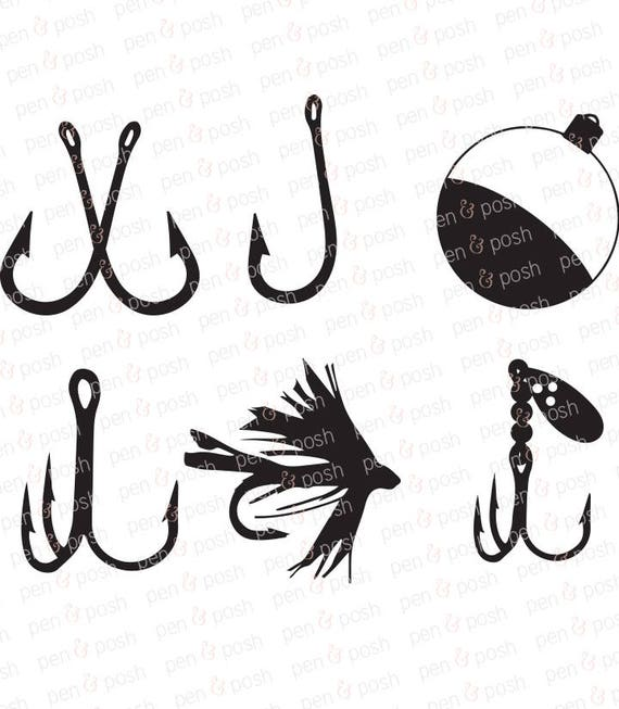 Fish Hook SVG Fishing Fish Hooks Fish Hook DXF Fish - photo#8