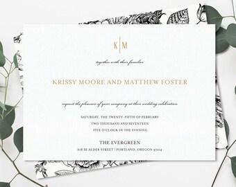 Romantic Flourish Wedding Invitation Suite